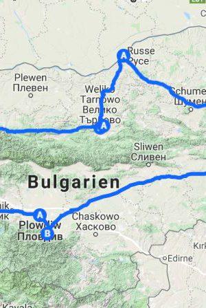Bulgarien Route